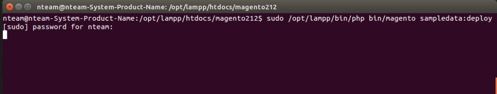 Installing sample data after Magento 2 setup