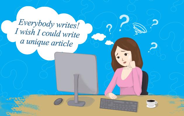 Write unique content