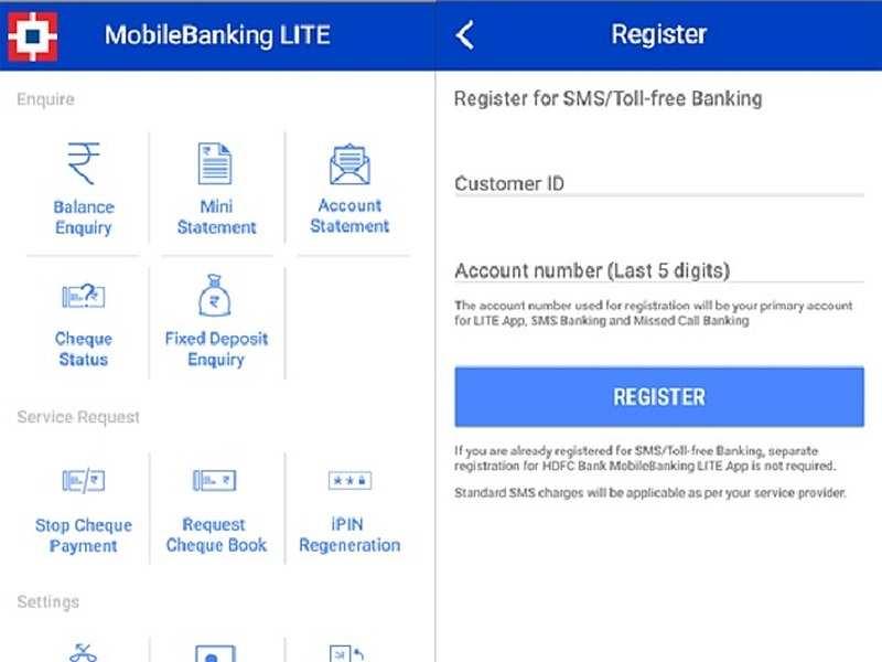 HDFC Bank MobileBanking LITE