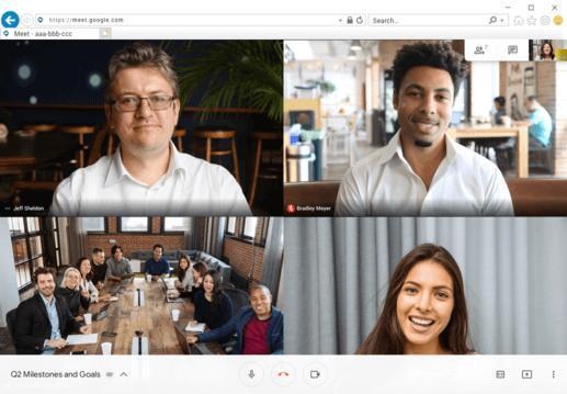Hangout meet video conferenceing app